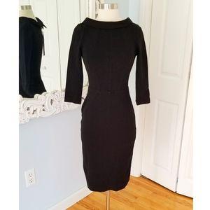 Boden Black Retro Style Mid Length Dress Size 2
